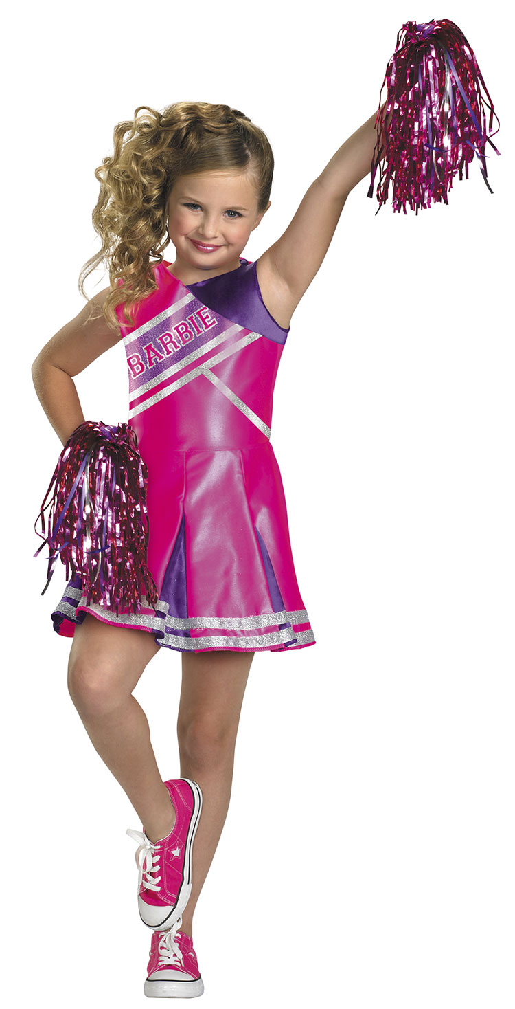 Girls Cheerleader Barbie Costume