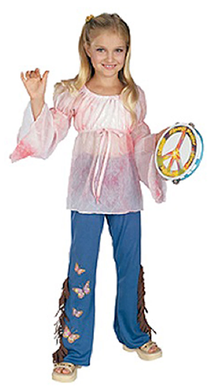 Girls Woodstock Hippie Costume