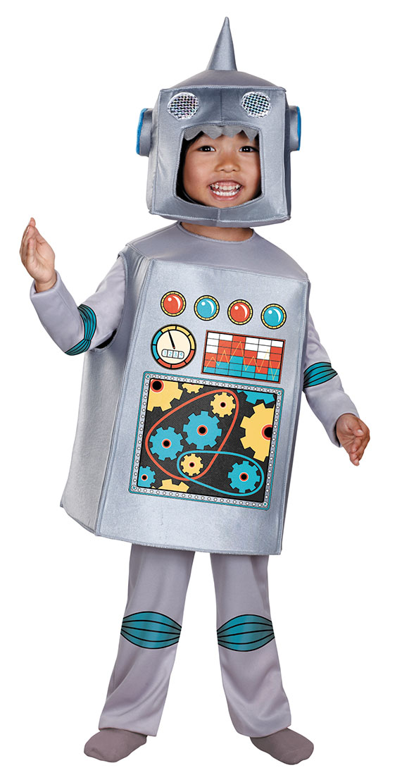 Retro Robot Costume with Headpiece