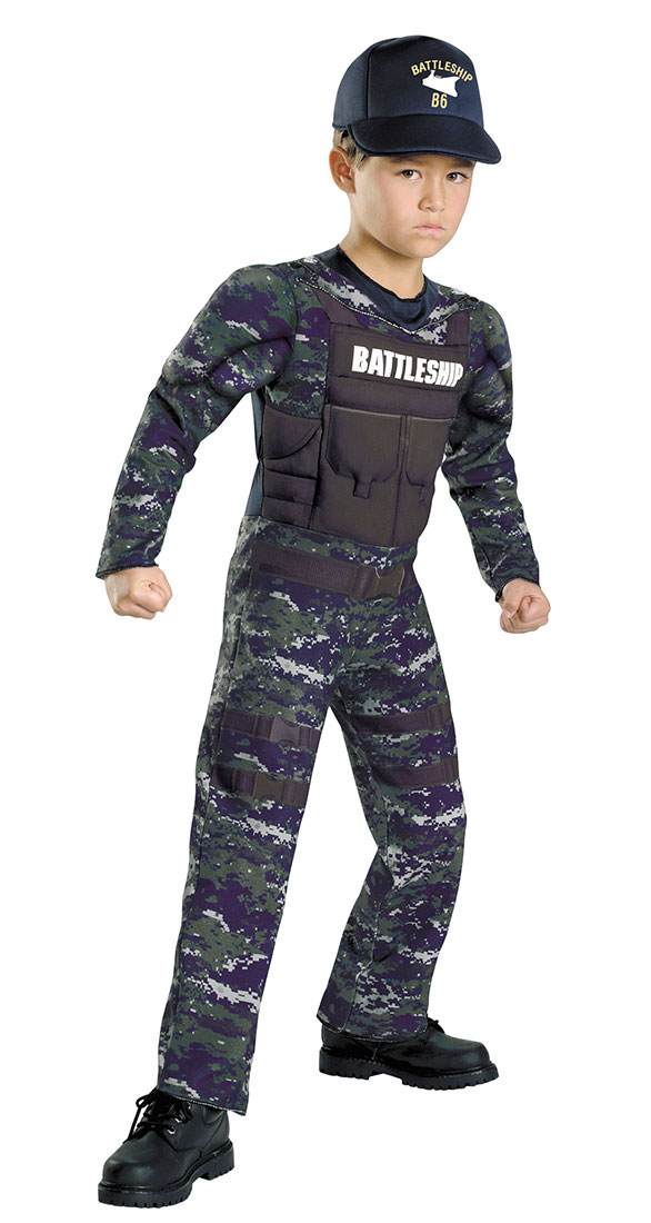 Kids Battleship Alex Hopper Classic Muscle Costume