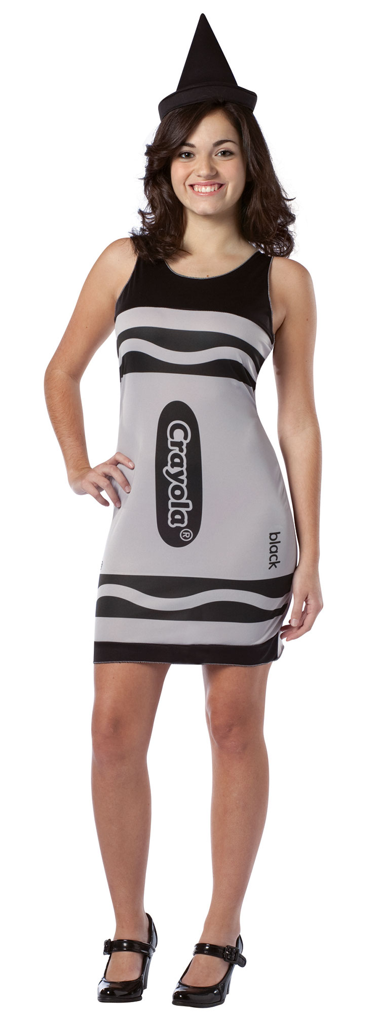 Black Crayola Costume Dress For Teen