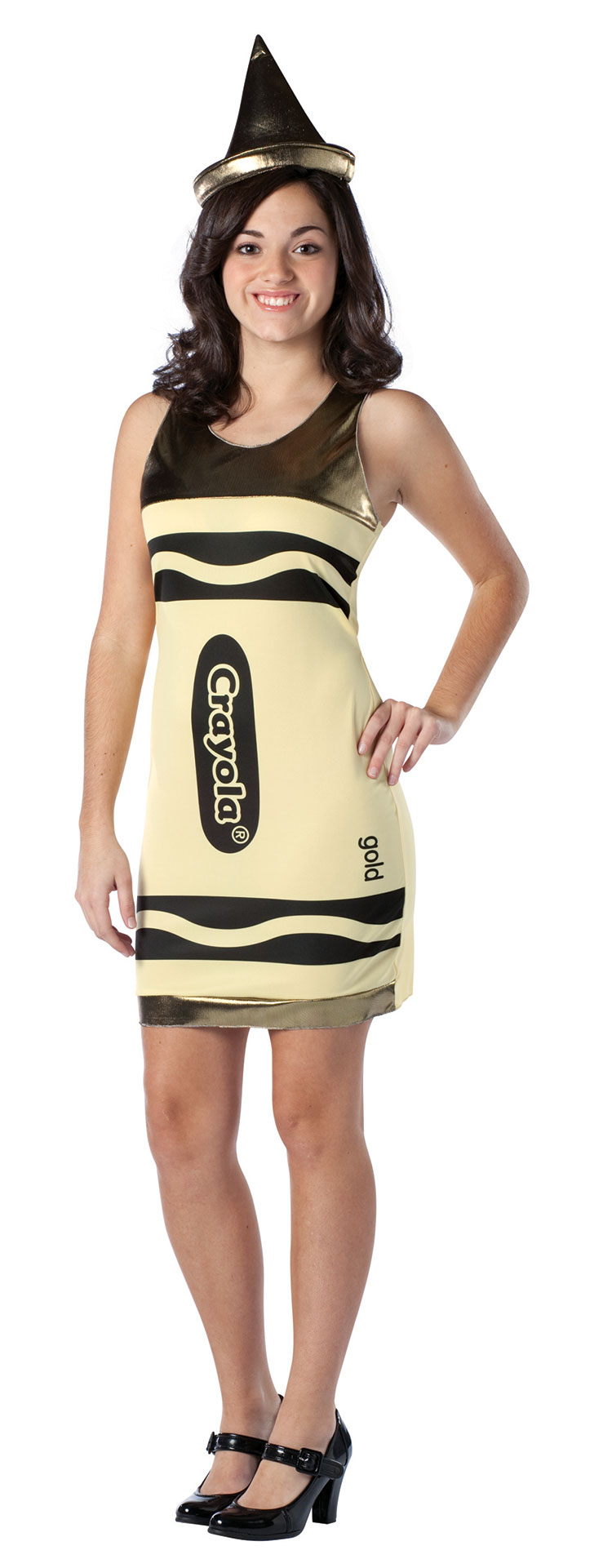 Teen Gold Crayola Costume Dress