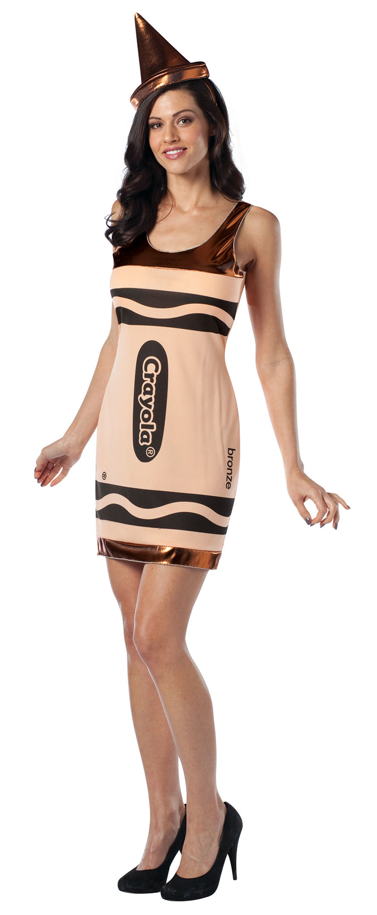 Teen Bronze Crayola Costume Dress