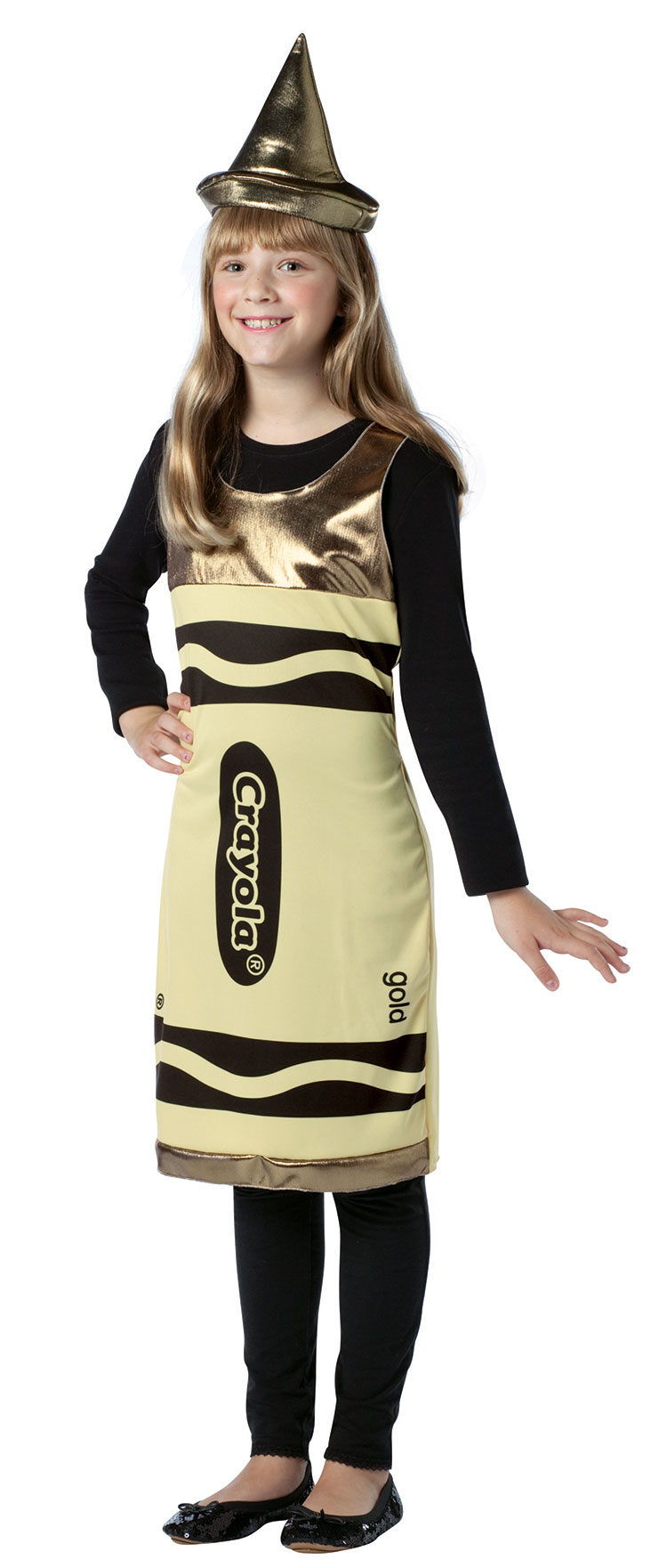 Tween Gold Crayola Costume Dress
