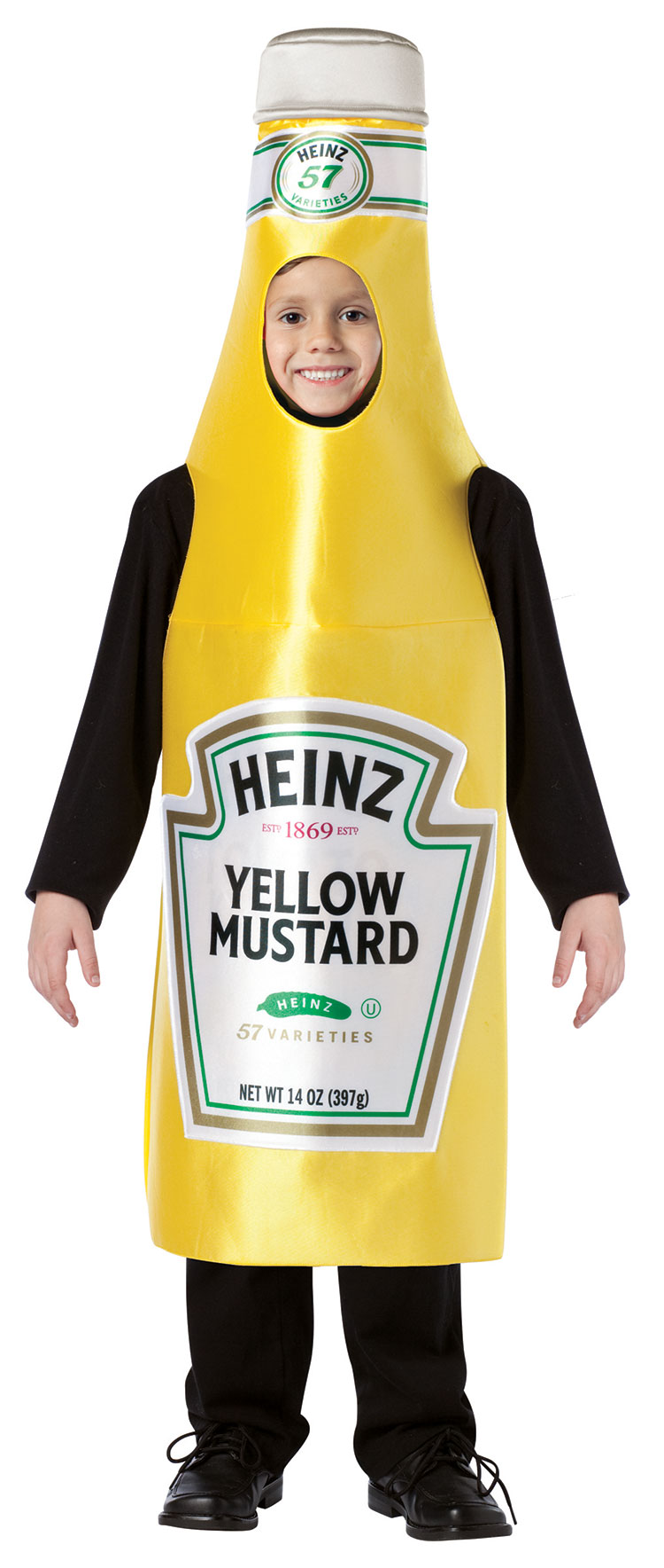 Kids Heinz Classic Mustard Bottle Costume