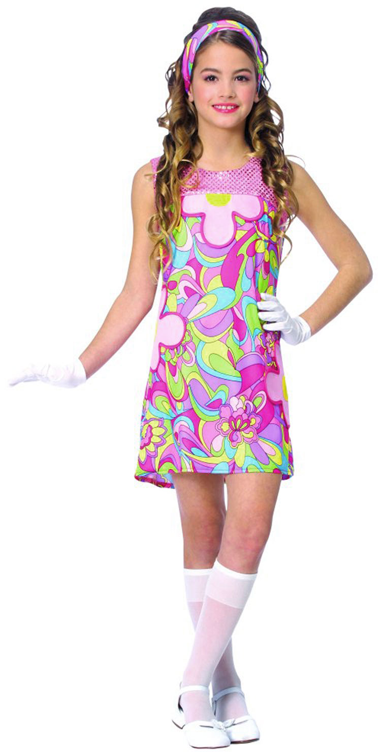 Girls Groovy Girl Costume