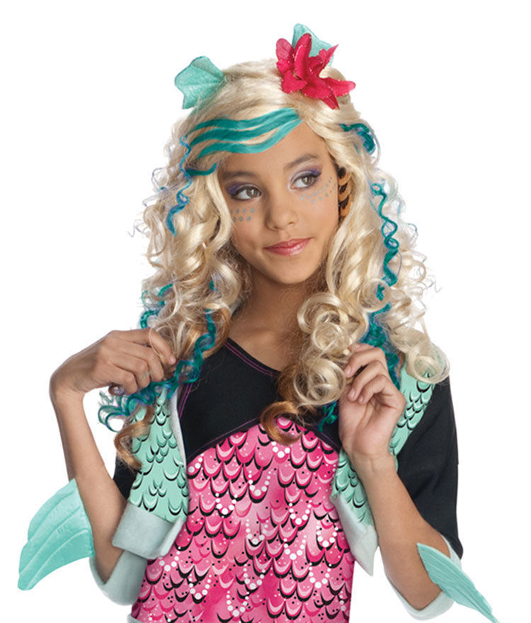 Girls Lagoona Blue Wig