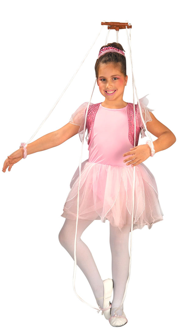 Girls Puppet Ballerina Princess Costume