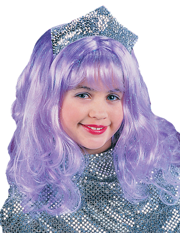 Girls Purple Wig
