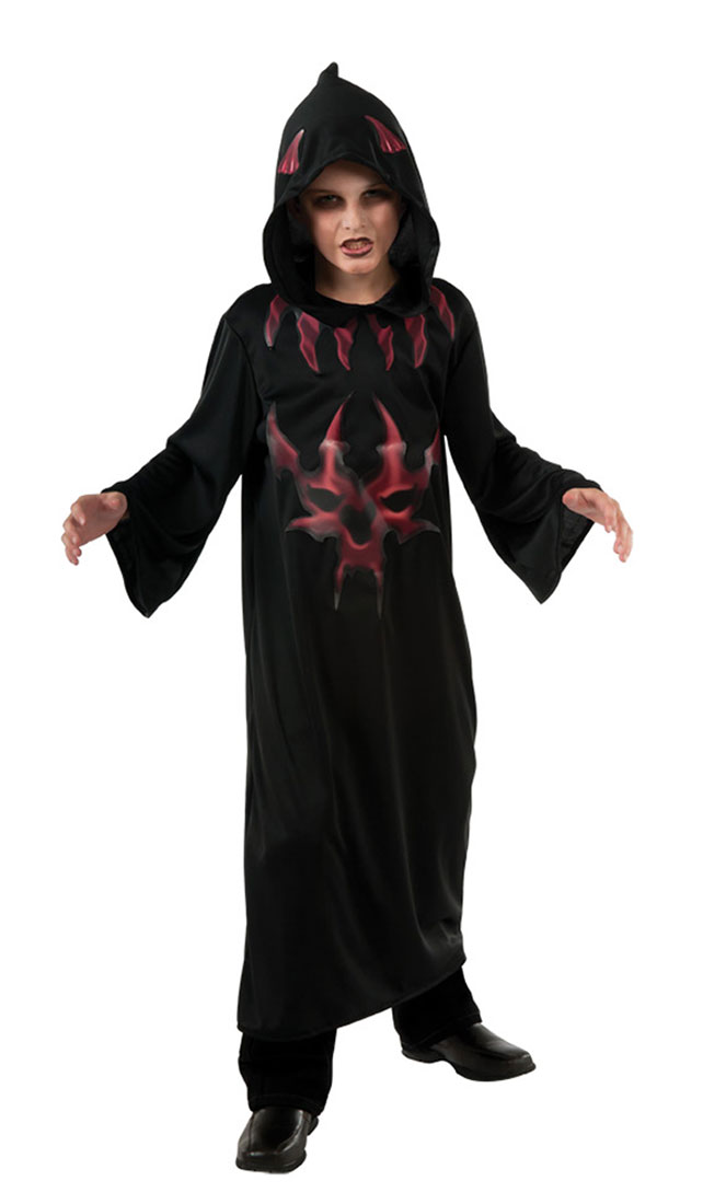 Black And Red Devil Costume For Kids