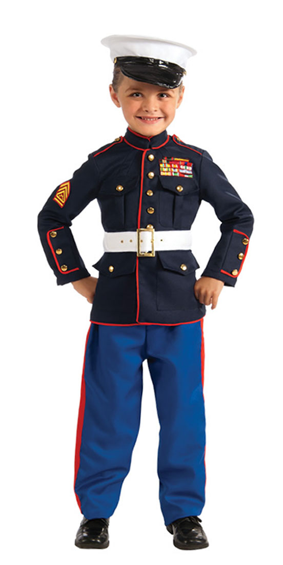 Kids Marine Dress Blues Costume