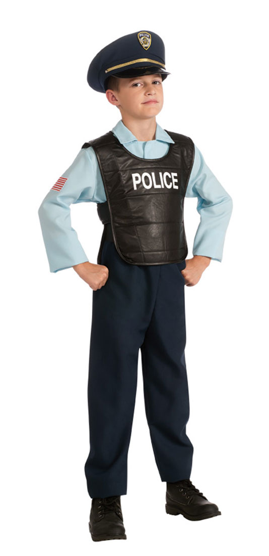 Kids deluxe police officer costume costumes life - Police officer child costume ...