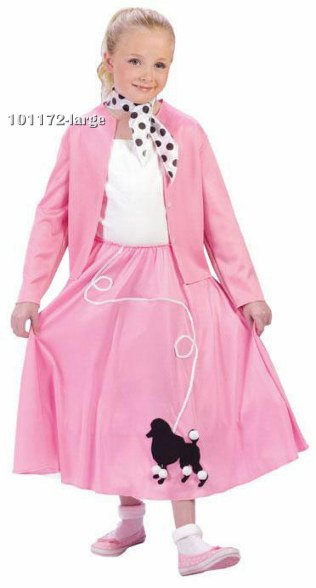 Girls Grease Poodle Skirt 50s Costume