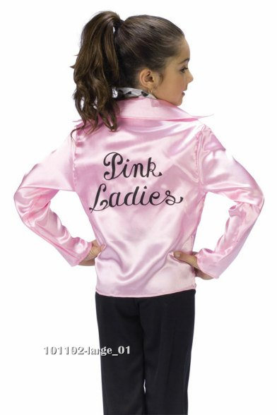 Girls Grease Pink Lady 50s Costume