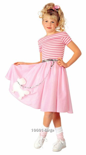 Girls Nifty 50's Dress Costume