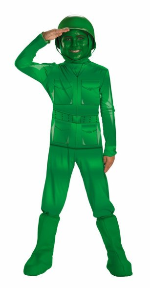 Kids and Toddler Deluxe Green Army Man Costume