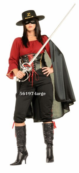 Female Super Deluxe Zorro Costume