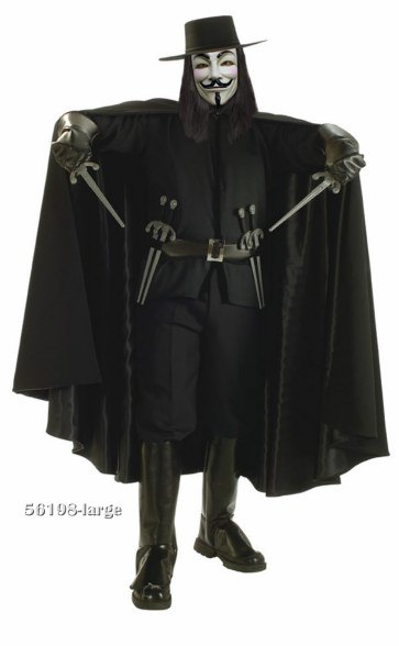 Super Deluxe V for Vendetta Costume
