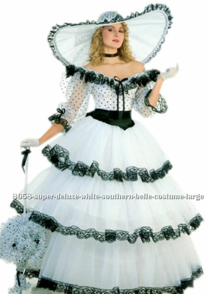 Super Deluxe White Southern Belle Costume