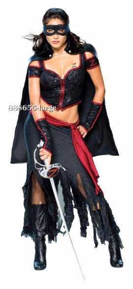 Sexy Adult Lady Zorro Costume