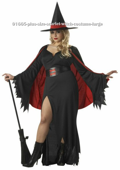 Plus Size Scarlet Witch Costume