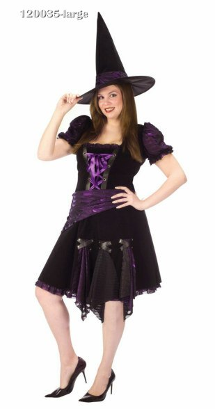 Plus Size Purple Punk Witch Costume