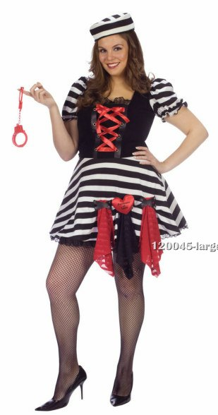 Plus Size Prisoner of Love Costume