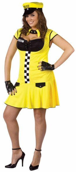 Plus Size Sexy Taxie Cabbie Costume
