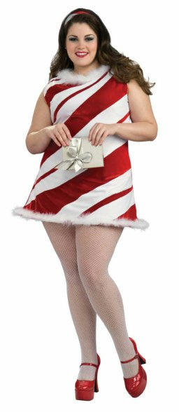 Deluxe Plus Size Ms. Candy Cane Costume
