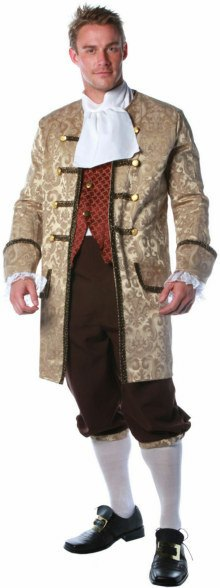 Plus Size Deluxe Colonial Man Costume