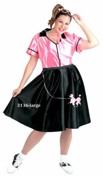 Plus Size Bobby Sox Fifties Costume