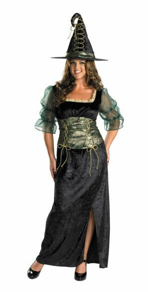 Plus Size Emerald Witch Costume
