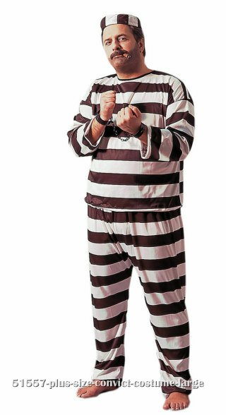 Plus Size Convict Costume