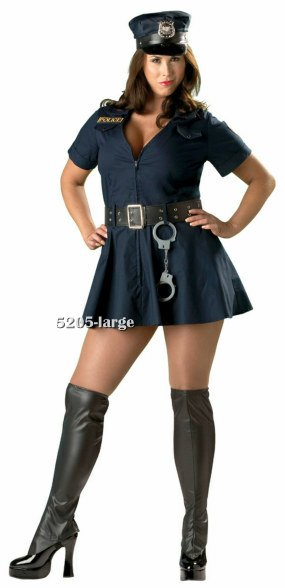 Plus Size Premier Officer Naughty Costume