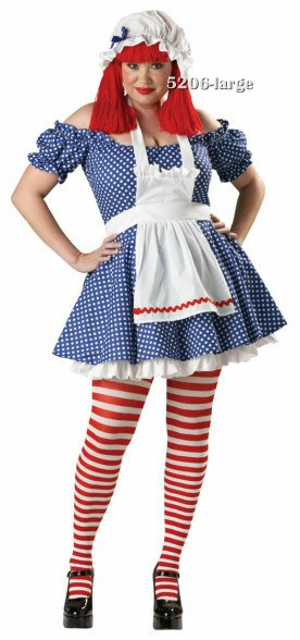 Plus Size Premier Racy Rag Doll Costume