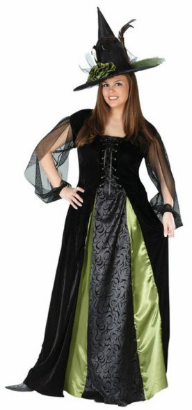 Plus Size Goth Maiden Witch Costume