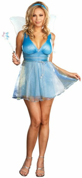 Plus Size Sexy Blue Fairy Costume