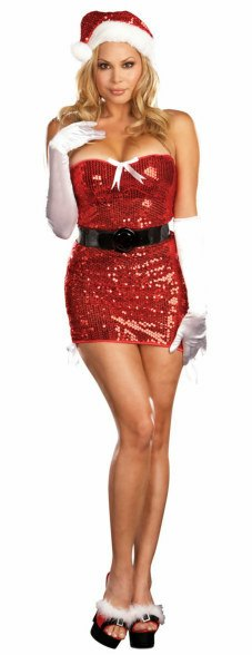 Plus Size Sexy Red Hot Christmas Costume