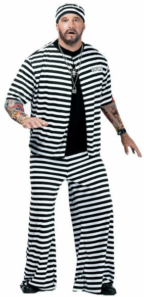 Plus Size Prison Playa Costume