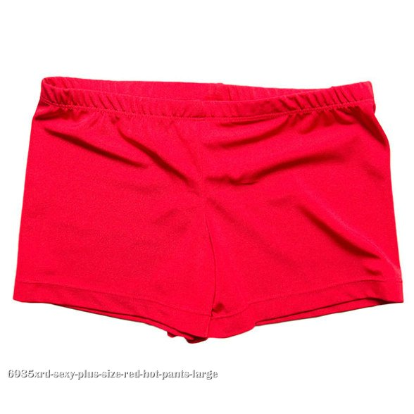 Sexy Plus Size Red Hot Pants