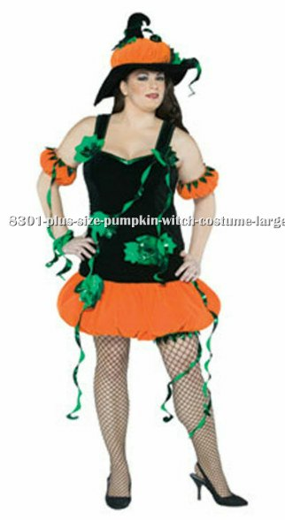 Plus Size Pumpkin Witch Costume
