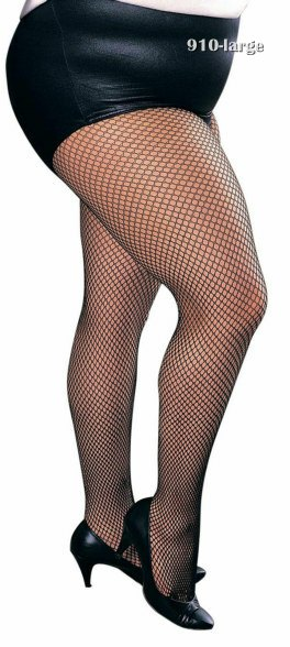 Adult Plus Size Fishnet Tights