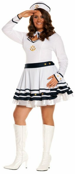 Plus Size Anchors Away Sailor Costume