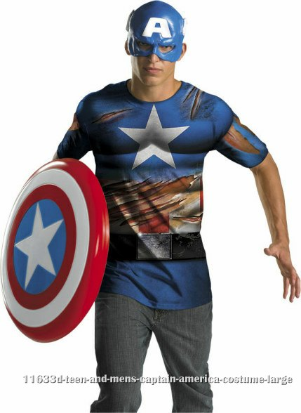 Teen and Mens Captain America Costume