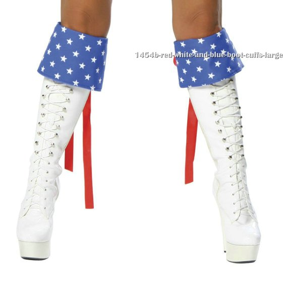 Red, White and Blue Boot Cuffs