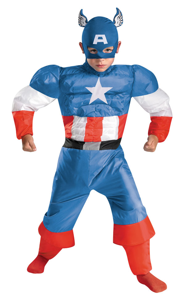 Kids Inflatable Captain America Costume