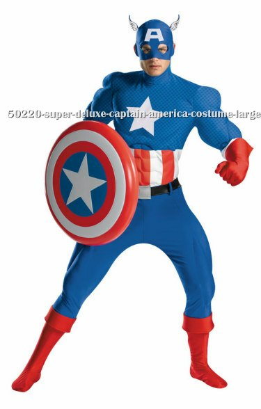Super Deluxe Captain America Costume