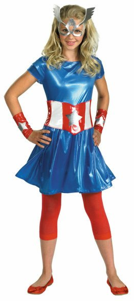 Tween Captain America Girl Costume