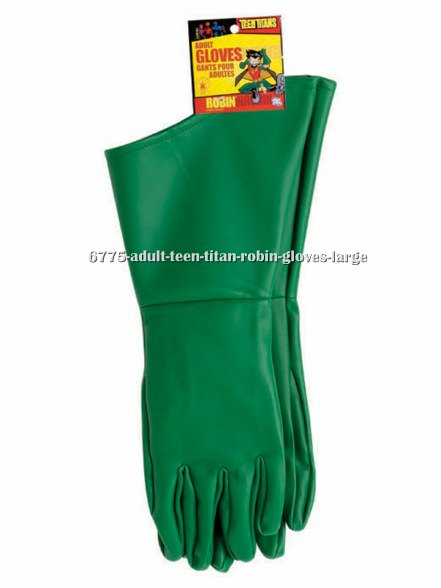 Adult Teen Titan Robin Gloves