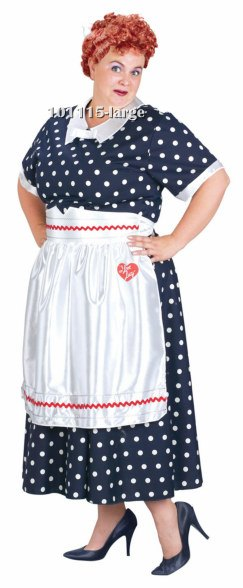 5890967c7d537 Plus Size Lucy Polka Dot Dress Costume